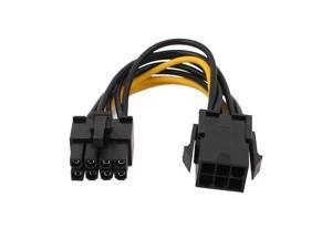 PCI Express 6-Pin to 8-Pin Video Card Power Adapter Cable Black