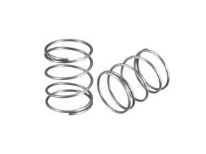"""Wire Diameter 0.05"""" , OD 0.79"""" , Free Length 1"""" Stainless Steel Coil Extended Compressed Spring 10pcs"""