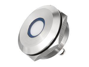 J22-170A DC12V 22mm Thread Dia Flat Head White Signal Indicator Lamp Pilot Light