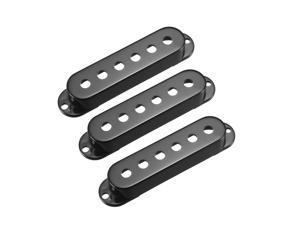Plastic Single Coil Pickup Cover for Stratocaster Squier Guitar Parts, Black- 50mm 3Pcs