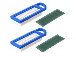 2 Pcs 698083 GY20573 697153 Air Filter for Briggs Stratton 697634 795115 Stens 102-875 Oregon 30-122 33425 Lowes 59471 Lawn Mower Air Filter Engine