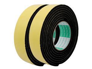 2Pcs 40mm Width 5mm Thickness Single Side Sealed Shockproof EVA Sponge Tape 9.8Ft Length