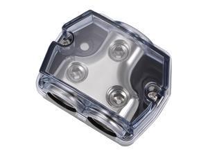 2 Way Power Distribution Block 0 Gauge In 0 Gauge Out Amp Power Ground Distributor for Car Audio Splitter