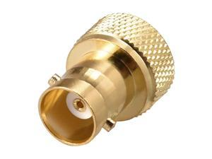 SMA Male to BNC Female Brass RF Coaxial Coax Adapter Gold Plated 1pcs