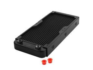 Computer CPU Aluminum 18 Pipes Water Cooling Heat Exchanger Radiator Black
