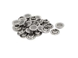 19mm Bottom Dia Stainless Steel Round Mesh Hole Air Vents Louver 30pcs
