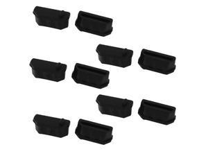 10 Pcs Black Silicone Anti Dust Cover Cap Protector for HDMI Female Port