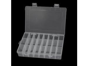 Unique Bargains Plastic 24 Separable Compartments Electronic Components Storage Box 2pcs