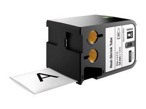 """DYMO - XTL 1868812 Heat Shrink Tube Labels (54 mm) - Black on White - 2"""""""