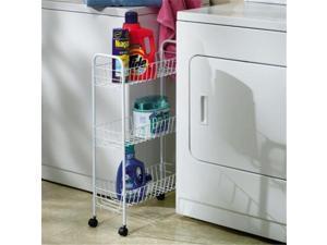 Home Essentials 05121 3-Tier Storage Cart-White