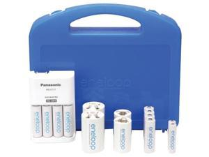 4-position Charger With Eneloop- r 8 Aa & 2 Aaa Batteries & 2 C & 2 D Space