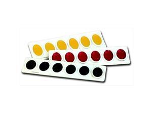 Prang 037904 Watercolor Paint Refill Set, Plastic Oval Pan, Yellow Orange