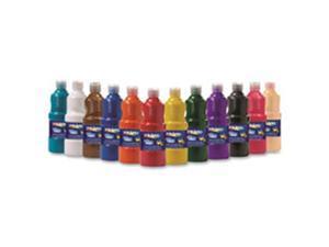 Dixon Ticonderoga Company DIX10796 Prang Ultra-Washable Tempera Paint, 12 Per Set