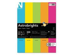 Wausau Papers 99608 8.5 x 11 in. Paper Astrobrights Bright Assortment, 500 Sheets