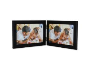 Lawrence Frames 230026 Lawrence Frames Black 6x4 Hinged Double Metal Picture Frame