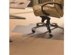Floortex Cleartex 1115226LV Advantagemat Pvc Rectangular Lipped Chair Mat For Standard Pile Carpets 0.38 In., Clear 48 X 60 In.