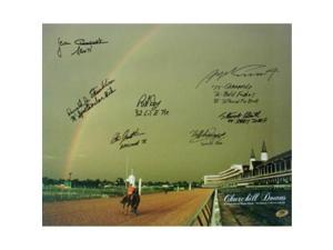 Ronald Franklin signed Churchill Downs Kentucky Derby Winners (1979) Horse Racing Rainbow 16x20 Photo 7 signatures