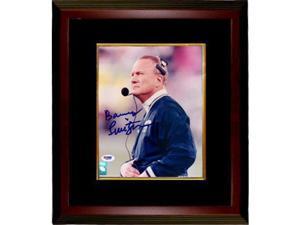 Barry Switzer signed Dallas Cowboys 8x10 Photo Custom Framed- PSA Hologram