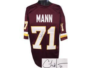 Charles Mann signed Maroon TB Custom Stitched Pro Style Football Jersey #71 XL- JSA Hologram