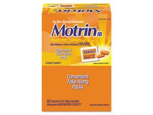 Motrin. Ib 48152 Ibuprofen Tablets, Two-Pack, 50 Packs/Box