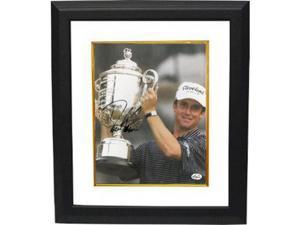 David Toms signed 8x10 Photo Custom Framed 2001 PGA Championship w/ Trophy (vertical)
