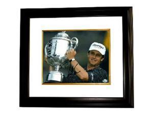 David Toms signed 8x10 Photo Custom Framed 2001 PGA Championship w/ Trophy (horizontal)