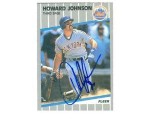 Autograph Warehouse 35754 Howard Johnson Autographed Baseball Card New York Mets 1989 Donruss Baseball Card No 18 Diamond King Neweggcom