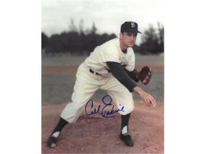 Carl Erskine signed Brooklyn Dodgers 8x10 Photo