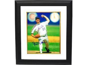 Frank Viola signed New York Mets 8x10 Photo Custom Framed (arm up pitching)
