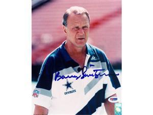 Barry Switzer signed Dallas Cowboys 8x10 Photo (white shirt)- PSA Hologram