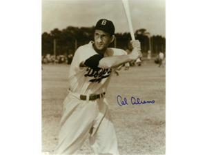Cal Abrams signed Brooklyn Dodgers Vintage B&W 8x10 Photo (close up batting-deceased)