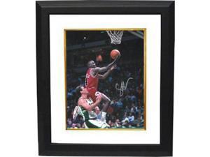 Craig Hodges signed Chicago Bulls 8x10 Photo Custom Framed vs Milwaukee Bucks (3X 3 Point Shooting Contest Winner)