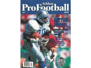 Athlon CTBL-012542 Barry Sanders Unsigned Detroit Lions Sports 1992 NFL Pro Football Preview Magazine