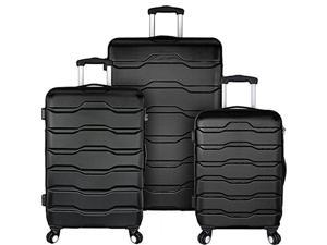 Travelers Choice EL09075K Elite Luggage Omni 3-Piece Hardside Spinner Luggage Set, Black