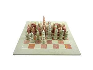 Smolart Hand Carved Soapstone Maasai Chess Set Board, 14 in.