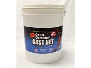 "FITEC  10570 GS1500 Ultra Spreader Cast Net 7'x3/8"" Mesh  Clear  Lead  1.5 lb wt"