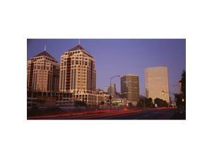 Panoramic Images PPI34052L USA  California  Oakland  Alameda County  New City Center  Buildings lit up at night Poster Print by Panoramic Images - 36 x 12