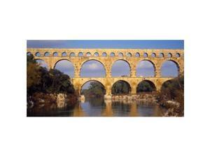 Panoramic Images PPI33151L Aqueduct  Pont Du Gard  Provence-Alpes-Cote dAzur  France Poster Print by Panoramic Images - 36 x 12