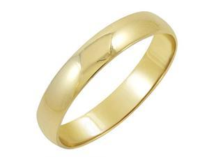 MLG Jewelry TWRZD409-4MM10Y SZ 8 4mm Mens 10K Yellow Gold Classic Fit Plain Wedding Band - Size 8