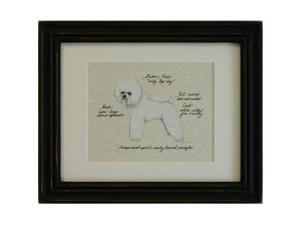 Clapper Hollow HC11 Bichon Frise Framed Print