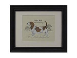 Clapper Hollow HC6 Basset Hound Framed Print