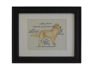 Clapper Hollow HC47 Golden Retriever Framed Print