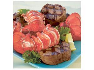 Lobster Gram M12FM8 Eight 12-14 Oz Giant Canadian Lobster Tails & Filet Mignon Steaks