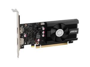 MSI G103024PC NVIDIA GeForce GT 1030 2GD4 LP OC 2GB DDR4 HDMI & DisplayPort Low Profile PCI-Express Video Card