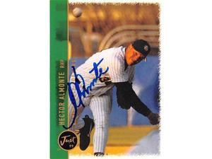Autograph Warehouse 421032 Hector Almonte Autographed Baseball Card Florida Marlins Kane County Cougars FT 1999 Just Minors No.1