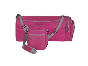 3587440e3e3 Travelon Convertible 2-in-1 Crossbody Messenger Duffel Travel Gym Bag Berry