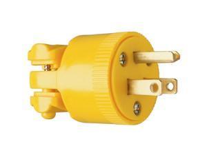 Pass & Seymour 4867YCC10 15A 125V Yellow Heavy Duty Vinyl Construction Plug