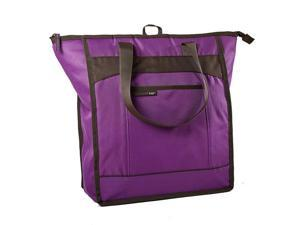 Medport 5060RR1611 Rachael Ray ChillOut Thermal Tote Insulated Bag - Purple with Brown Trim