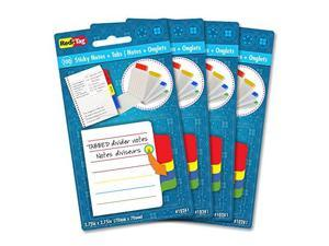 "Redi-tag Sticky Notes with Tabs 4""Wx4""Lx2""H 4/PK Multi 10246"