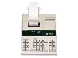 Monroe 122PDX Medium-Duty 12-Digit Print/Display Printing Calculator / Adding Machine With The Fastest Printing Speed